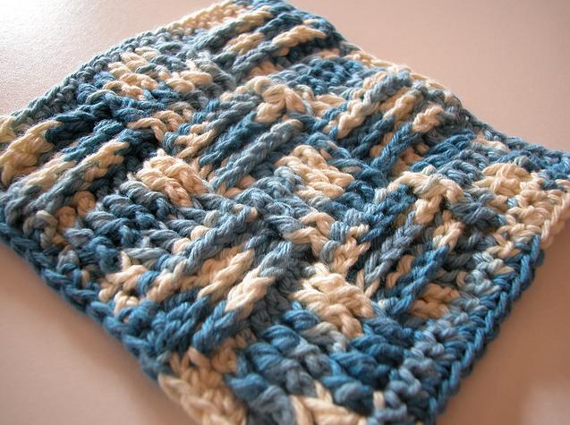 Basket Weave Crochet Patterns Free : Basketweave crochet washcloth and blanket pattern