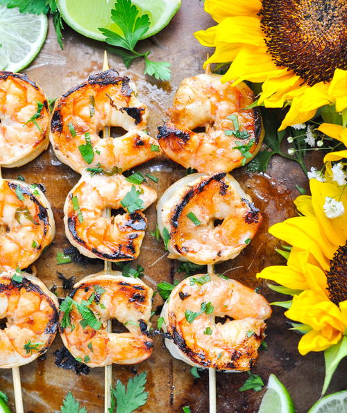 Easy Marinated Grilled Shrimp