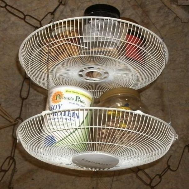 repurposed fan diy storage basket diyideacenter