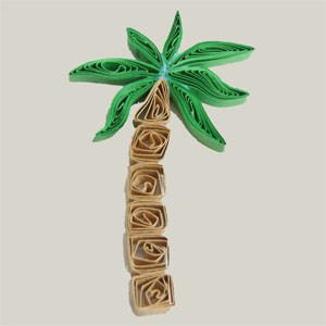 Summery Palm Tree Quilling Design