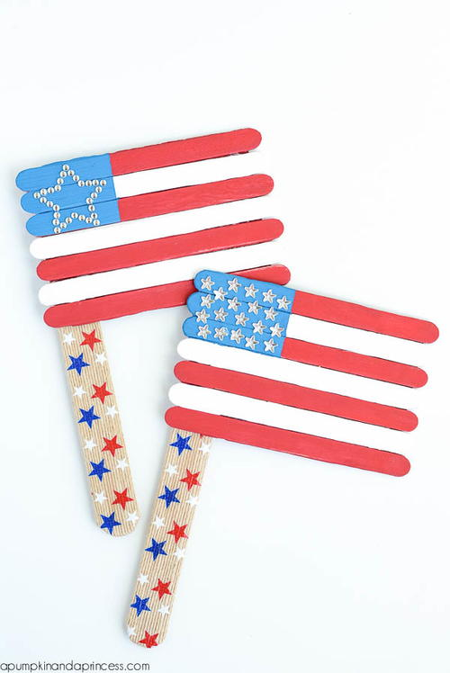 American Flag Ice Cream Stick Craft