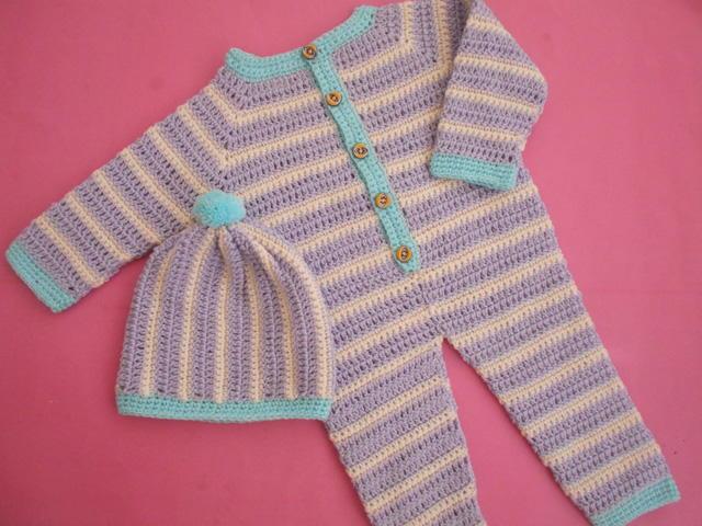 Crochet Baby Romper/Dungarees Tutorial FaveCrafts.com