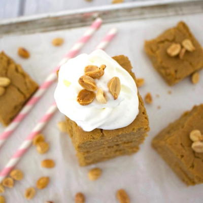 Healthy Peanut Butter Cake Bars
