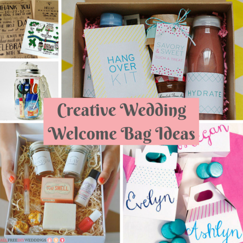 Creative Wedding Welcome Bag Ideas Allfreediyweddings