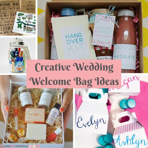 Unique Wedding Welcome Bag Ideas
