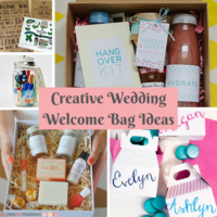 Creative Wedding Welcome Bag Ideas
