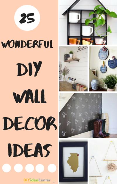 Diy Wall Treatments 25 Smart Wall Decor Ideas Diyideacenter Com