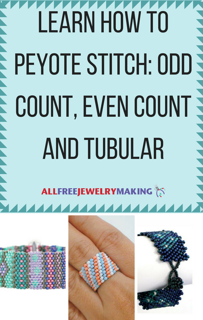 Learn How To Peyote Stitch Even Count Odd Count And