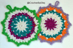Colorful Crochet Coaster