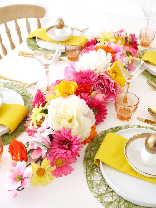 Bright and Flowery Table Runner