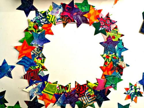 Colorful Star Wreath