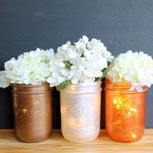 Painted Mason Jar Centerpieces