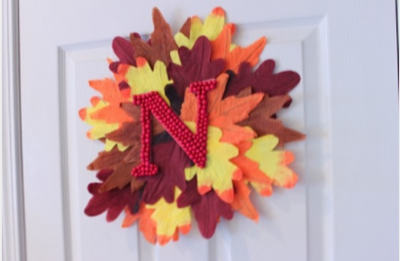 Dollar Store Leaf Wreath