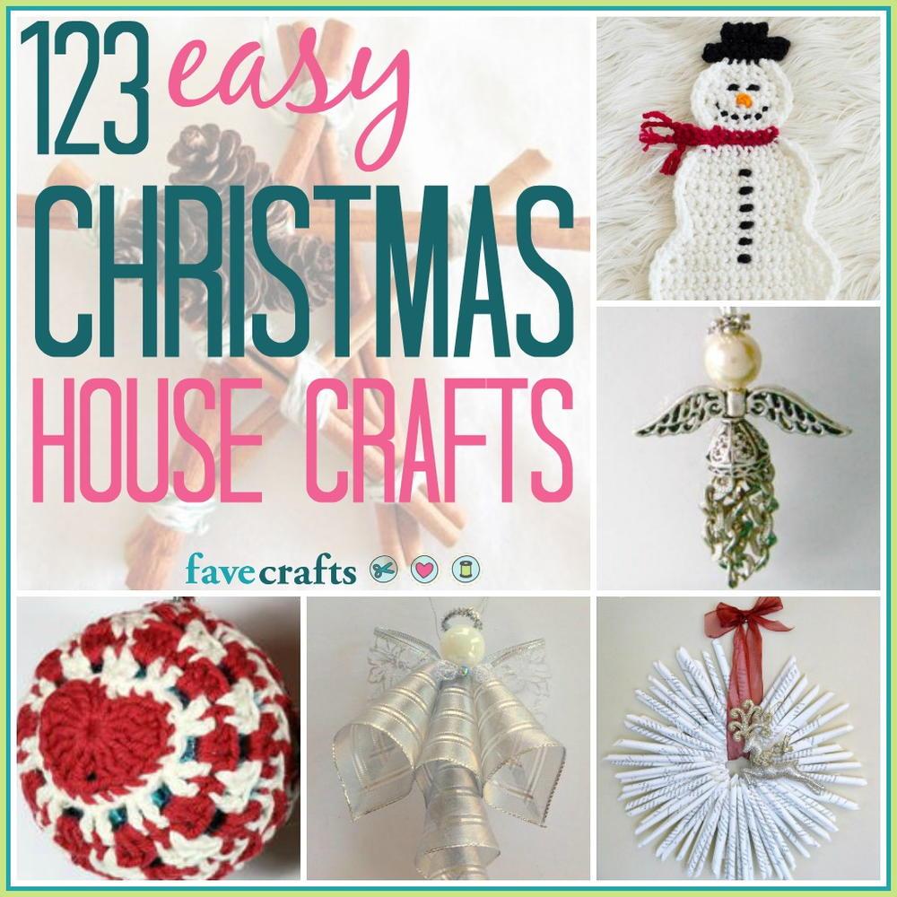 Christmas Crafts To Make: 123 Easy Christmas House Crafts