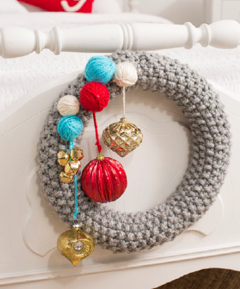 Be Merry Easy Knit Wreath