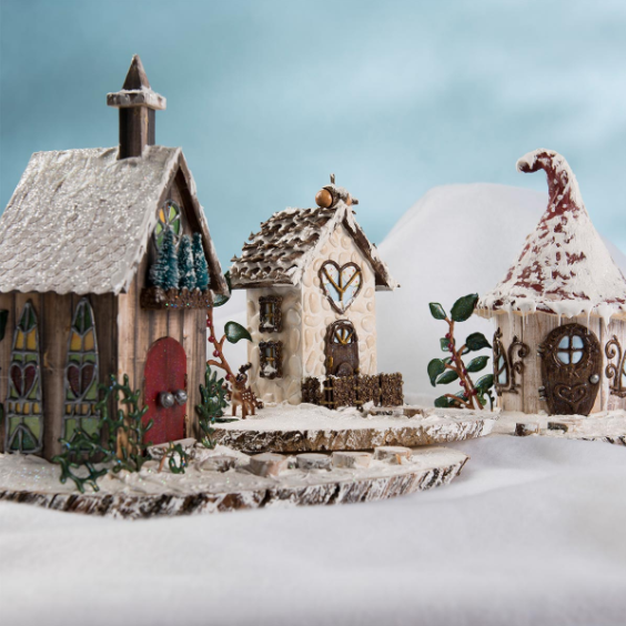 Fairy Garden DIY Snow Village