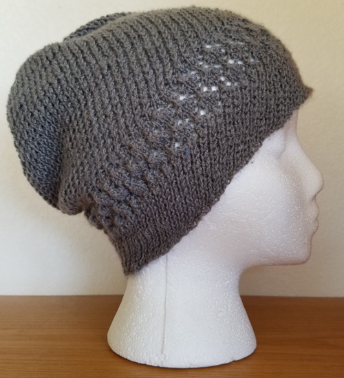 Kelsey Lace and Spiral Knit Hat Pattern