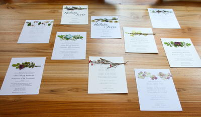 Elegant Pressed Flower Invitations