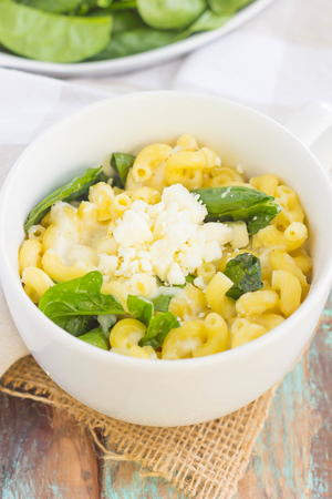 Spinach and Feta Macaroni and Cheese