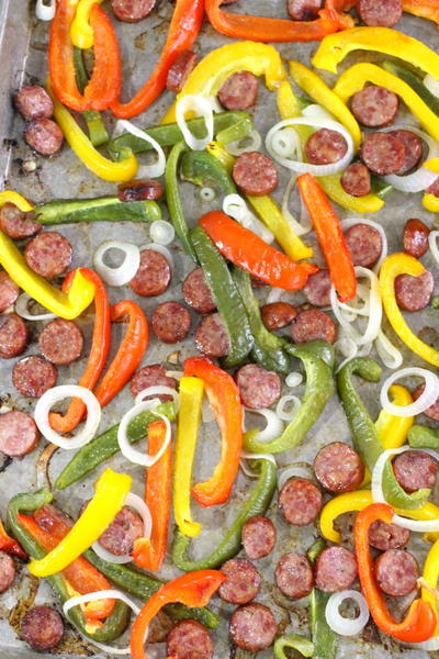 One Pan Sausage and Peppers