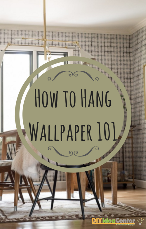 how to hang wallpaper 101. Black Bedroom Furniture Sets. Home Design Ideas