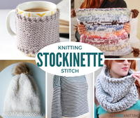 Stockinette Stitch Knitting: 52 Free Knitting Patterns
