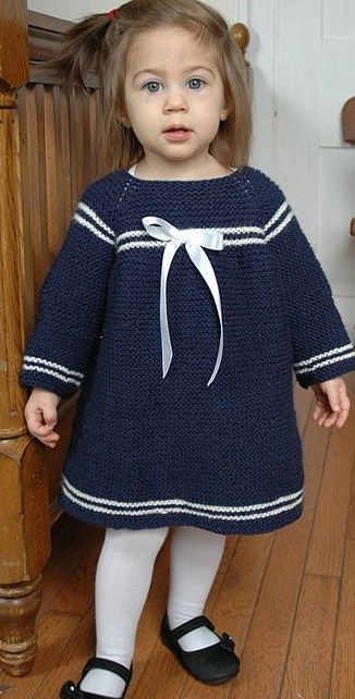 Sweet Sailor Knit Dress Pattern