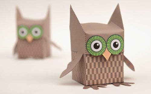 Delightful Printable Owl Box