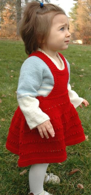 Sweetheart Eyelet Knit Skirt Pattern