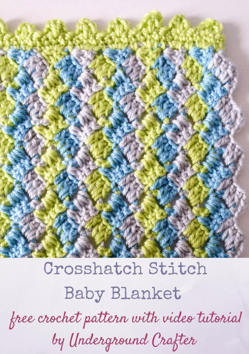 Crosshatch Stitch Baby Blanket