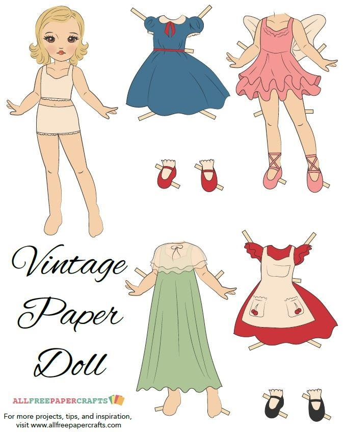 large paper doll template - vintage veronica printable paper doll