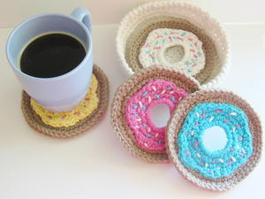 Doughnut Coasters and Holder Set