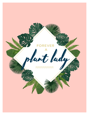 """Plant Lady"" Tropical Wall Art Printable"