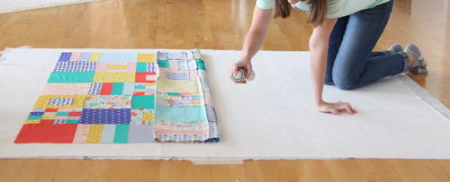 Spray Baste a Quilt