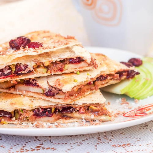 Vegan Dessert Quesadillas