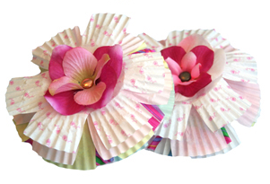 Blossoming Cupcake Liner Paper Flowers