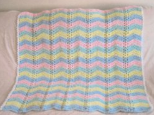 Single Shell Baby Ripple Afghan