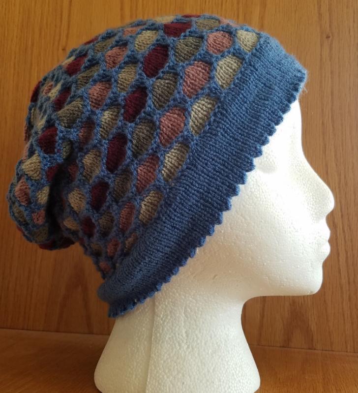 Holy Honeycomb Knit Hat Pattern Allfreeknitting Com