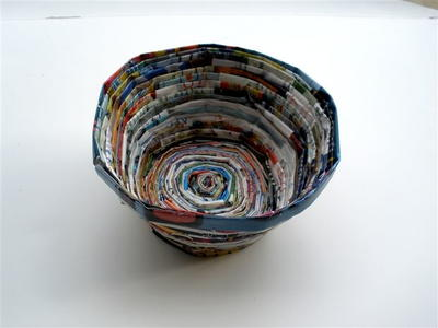 Earth-Friendly Recycled Materials Bowl