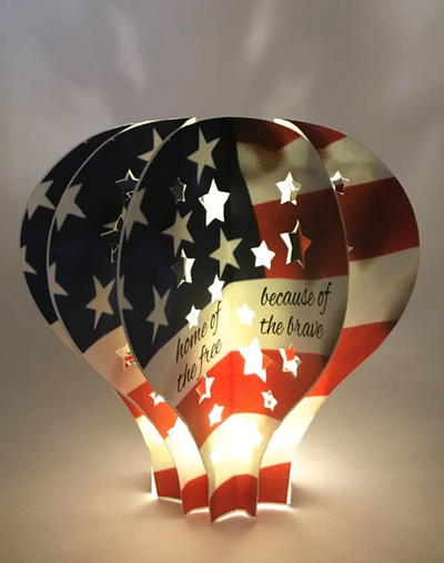 July 4th Hot Air Balloon Light