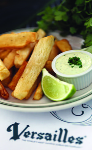 Fried Yuca with Cilantro Aioli Dipping Sauce
