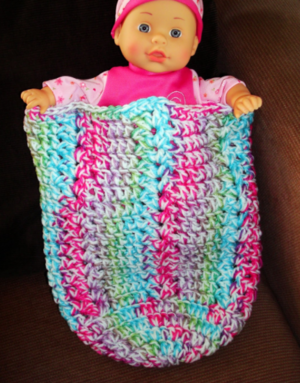 Playful Shells Crochet Baby Cocoon
