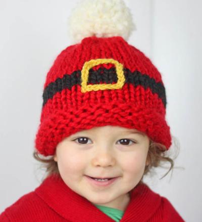Santa Hat Knitting Pattern For Babies : Christmas Tree Baby Hat Pattern AllFreeKnitting.com