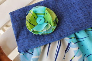 Fold Over Gathered Clutch