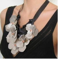 Faux Metal Bib Necklace