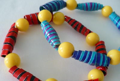 Rolled Duct Tape Bead Bracelet