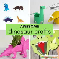 Crafts for Boys: 37 Awesome Dinosaur Crafts for Kids