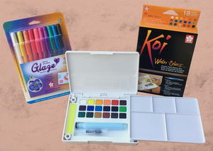 Koi Water Colors and 3D Glossy Pen Set Giveaway