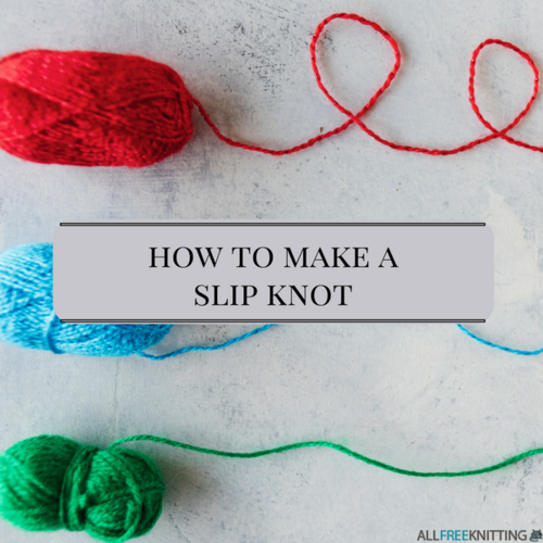 Knitting Starting Knot : Knitting tutorial how to make a slip knot