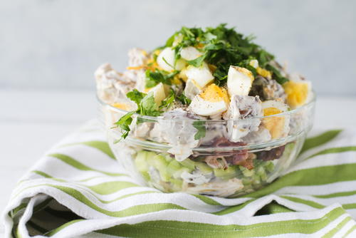 Easy 7-Layer Potato Salad